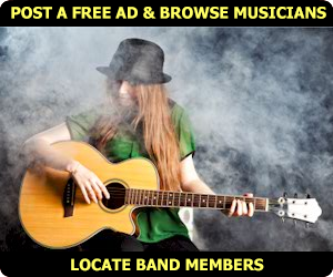 Bands click here ~ Locate or Find Musicians seeking gigs or employment!